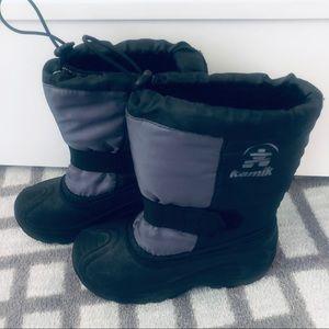 Kamik size 13 snow boots black & gray ⛄️⛄️